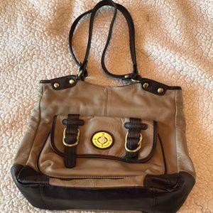 Etienne Aigner Brown/Tan Shoulder Bag